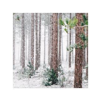 Impressão Em Tela Pinheiros nevado
