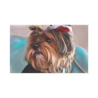 Impressão Em Tela Pintura a óleo bonito do cão de filhote de