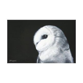 Impressão Em Tela Pintura a óleo da coruja de celeiro (impressão de