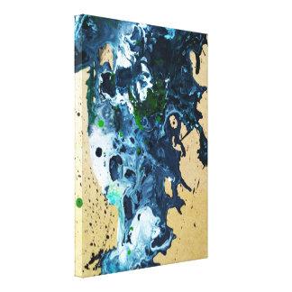 Impressão Em Tela pintura acrílica fluida abstrata