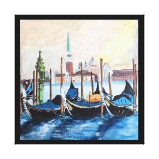 Impressão Em Tela Pintura acrílica original das gôndola por St Mark