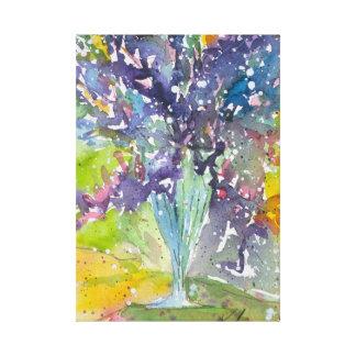 Impressão Em Tela Pintura da aguarela do buquê floral do primavera