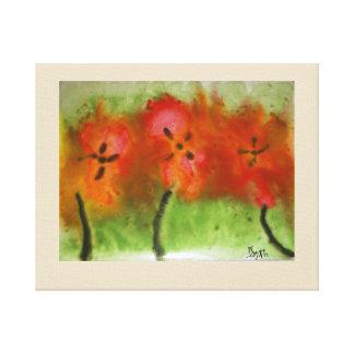 Impressão Em Tela Pintura do hibiscus