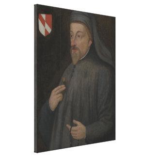 Impressão Em Tela Pintura do retrato de Geoffrey Chaucer do vintage