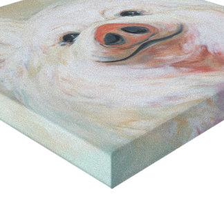 Impressão Em Tela Pintura macia do porco