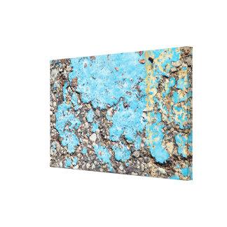 Impressão Em Tela pintura suja de turquesa no ashalt