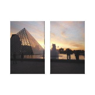 Impressão Em Tela Pirâmide no Louvre
