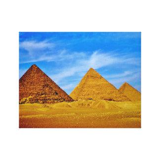 Impressão Em Tela Pirâmides egípcias em Giza