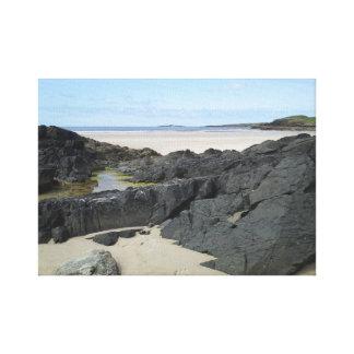 Impressão Em Tela Piscina da rocha em Donegal Ireland