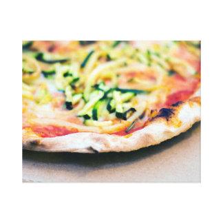 Impressão Em Tela Pizza vegetal saboroso