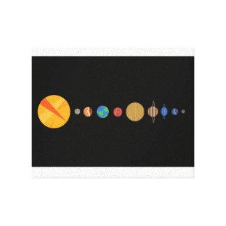Impressão Em Tela Planetas alinhados
