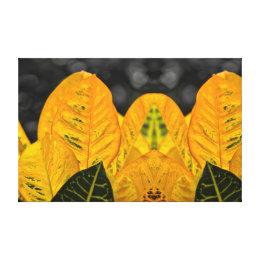 Impressão Em Tela Planta frondosa