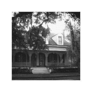 Impressão Em Tela Plantação dos Myrtles em preto e branco