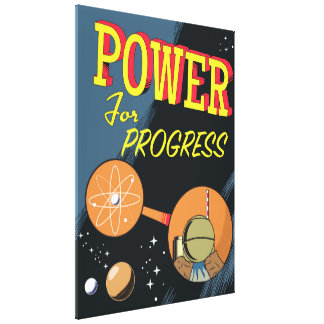 Impressão Em Tela Poder para o poster atômico do vintage do