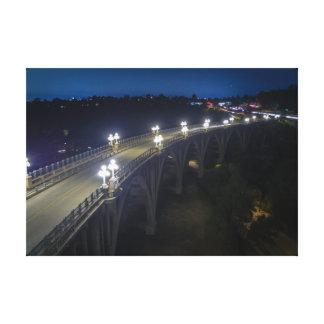 Impressão Em Tela Ponte da rua de Colorado na noite