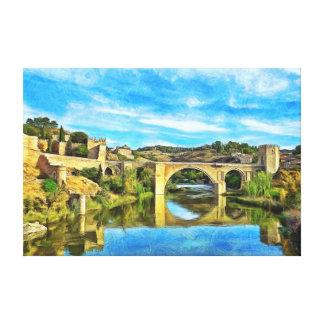 Impressão Em Tela Ponte de Alcantara em Toledo.