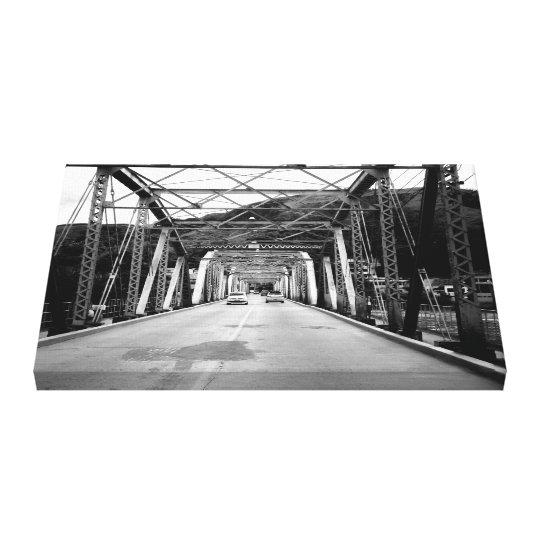Impressão Em Tela Ponte de ferro antiga
