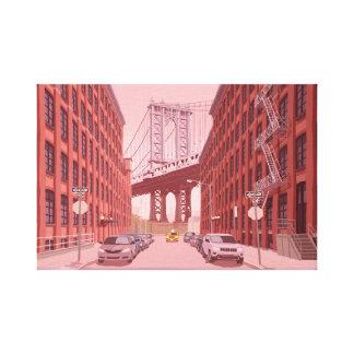 Impressão Em Tela Ponte de Manhattan