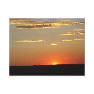 Impressão Em Tela Por do sol