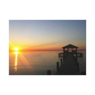 Impressão Em Tela Por do sol da baía móvel - nenhum filtro