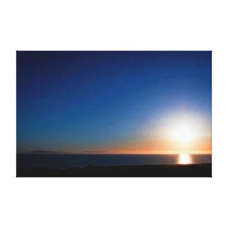 Impressão Em Tela Por do sol de Ventura