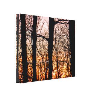 Impressão Em Tela Por do sol explosivo do inverno