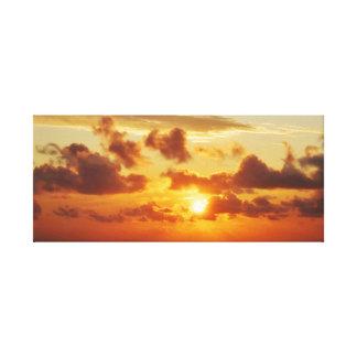 Impressão Em Tela Por do sol fora do cabo Hatteras