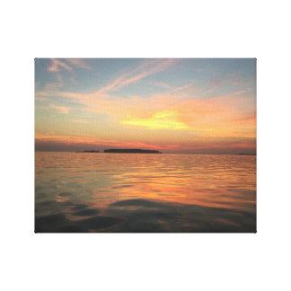 Impressão Em Tela Por do sol na baía de Chesapeake