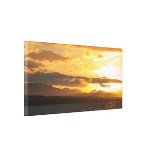 Impressão Em Tela Por do sol natural
