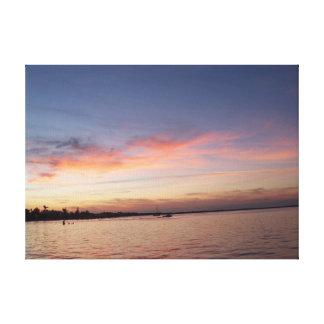 Impressão Em Tela Por do sol sobre a baía de Florida, Largo chave FL