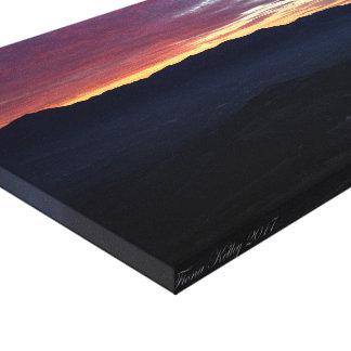 Impressão Em Tela Por do sol sobre as montanhas em Oregon do sul