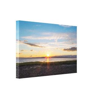 Impressão Em Tela Por do sol sobre o Rio São Lourenço