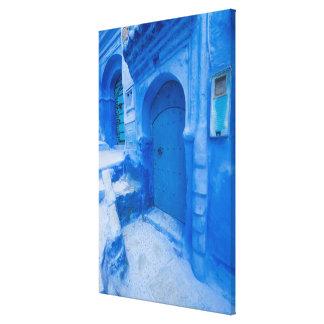 Impressão Em Tela Porta azul da cidade