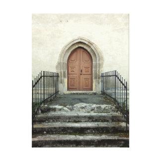 Impressão Em Tela Porta da igreja do vintage