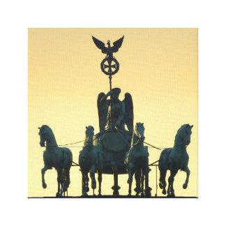 Impressão Em Tela Porta de Brandemburgo 001 do Quadriga, Berlim