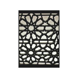 Impressão Em Tela Porta preta do ferro