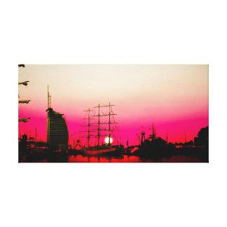 Impressão Em Tela Porto de de bremen - pôr do sol