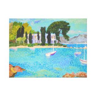 Impressão Em Tela Porto de L'Olivette - France