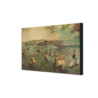 Impressão Em Tela Porto de Nápoles por Pieter Bruegel a pessoa idosa