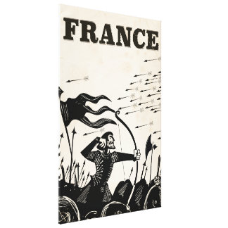 Impressão Em Tela Poster das viagens vintage de France. carro