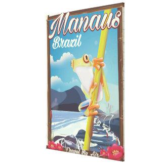 Impressão Em Tela Poster das viagens vintage de Manaus Brasil