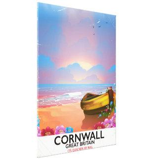 Impressão Em Tela Poster das viagens vintage do barco de pesca de
