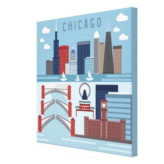 Impressão Em Tela Poster de Chicago Illinois