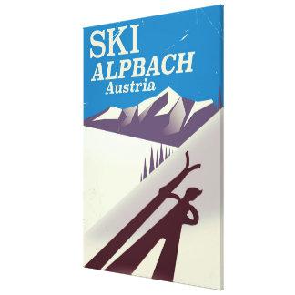Impressão Em Tela Poster de viagens austríaco do esqui de Alpbach
