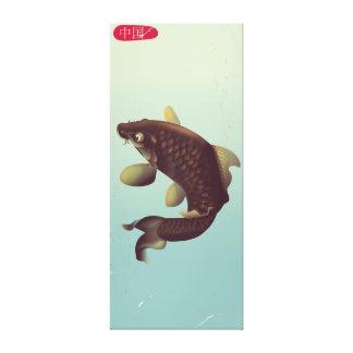 Impressão Em Tela Poster de viagens da carpa de Koi do estilo do