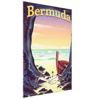 Impressão Em Tela Poster de viagens da caverna do pirata de Bermuda