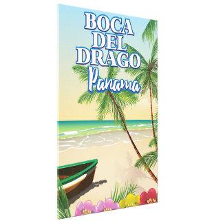 Impressão Em Tela Poster de viagens da praia de Boca del Drago