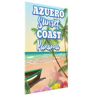 Impressão Em Tela Poster de viagens da praia de Panamá da costa do