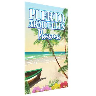 Impressão Em Tela Poster de viagens da praia de Puerto Armuelles