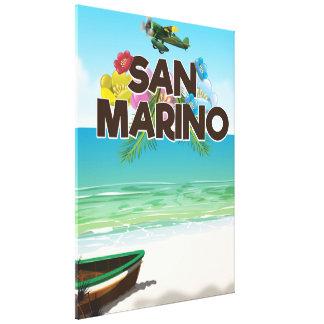 Impressão Em Tela Poster de viagens da praia de San Marino